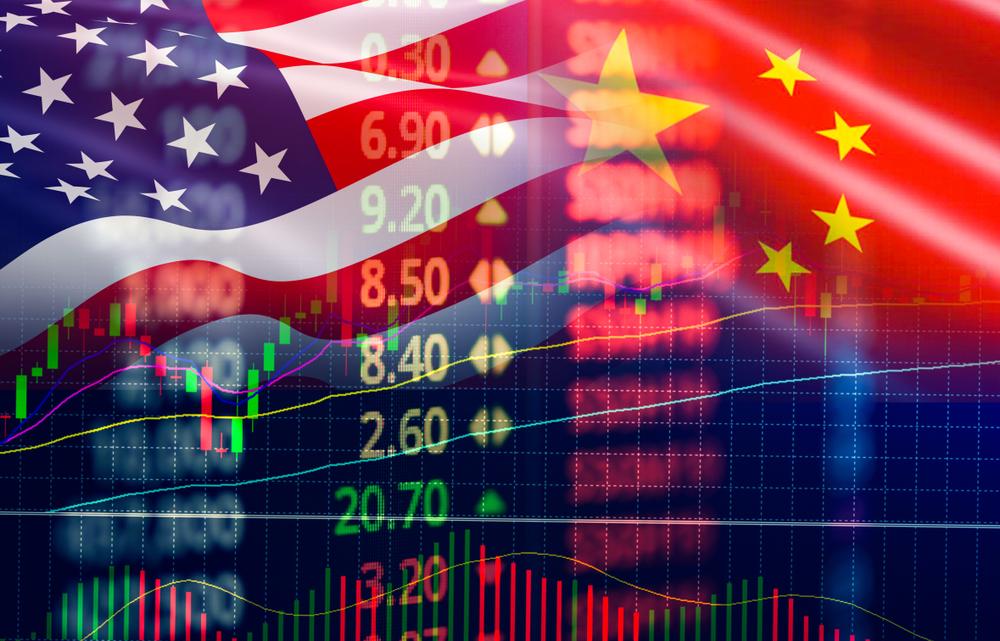 China gegen USA, Handelskrieg an der Börse