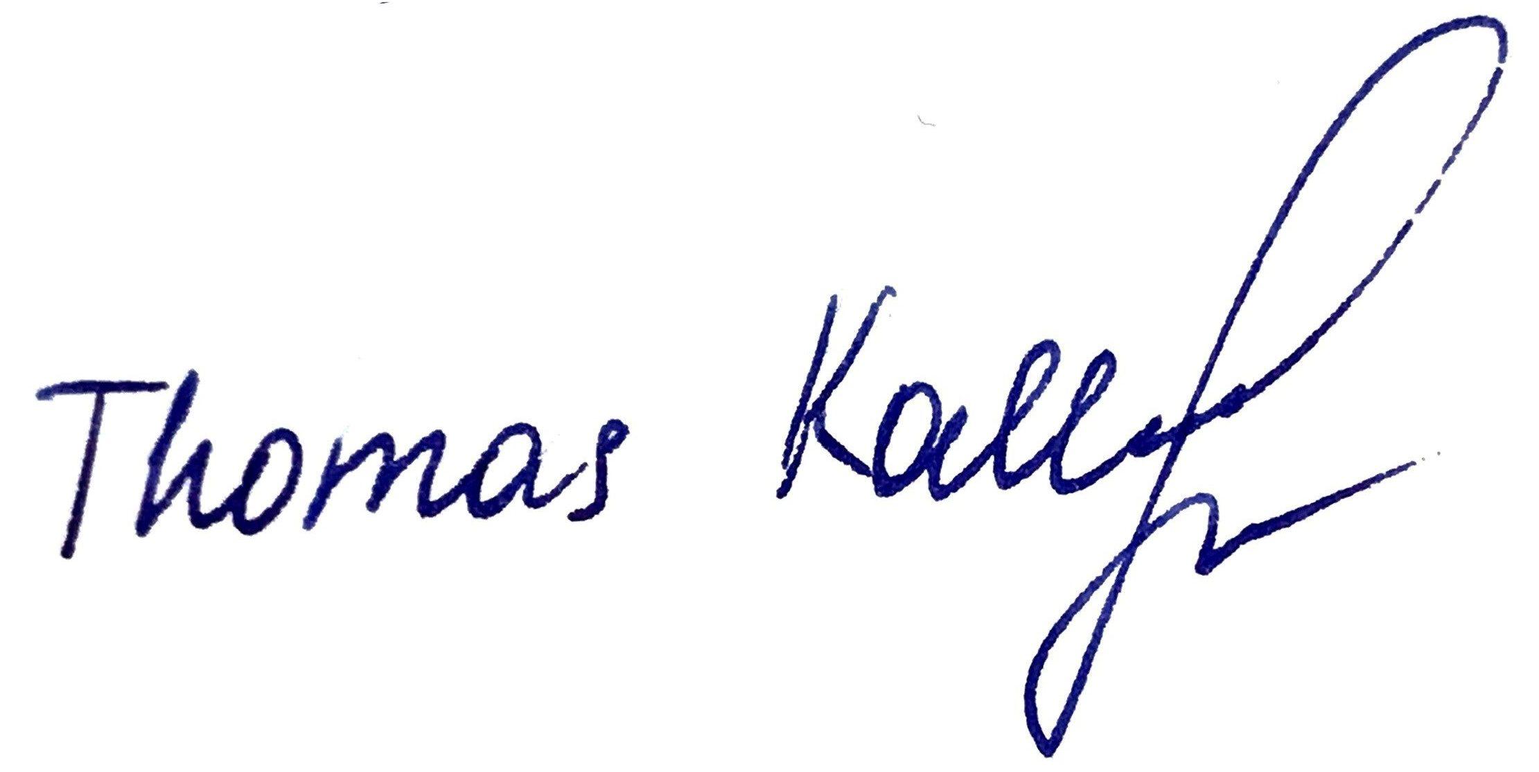 Unterschrift Thomas Kallwass